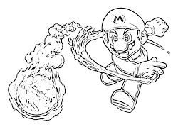 free mario coloring pages glum me
