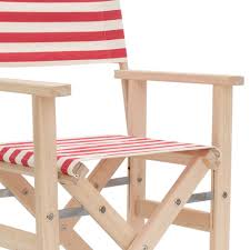 wyk kids u0027 director u0027s chair red u0026amp ecru striped design