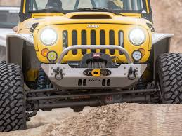 jeep front bumper genright offroad ultra clearance jk lo pro winch guard front