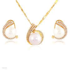 gold set in pakistan buy gorgeous zircon pearl gold set online in pakistan tesoro pk