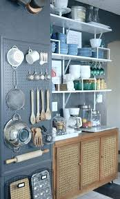 kitchen wall storage ideas peg board storage koffieatho me