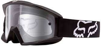 tear off goggles motocross fox motorcycle shocks fox main lens chrome spark grey base