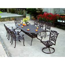 Aluminum Cast Patio Dining Sets - shop darlee santa monica 9 piece antique bronze aluminum patio
