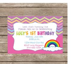 free thank you notes and cute rainbow girls personalized birthday