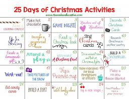 25 days of christmas activities advent calendar advent calendars