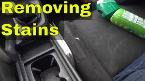 How To Remove Stain From Upholstery Removing Stains From Car Seats With Upholstery Cleaner Youtube