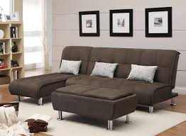 Furniture Light Grey Sleeper Sofa With Black Lamp Table On - Sleek sofa designs