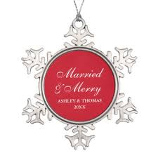 married and merry wedding christmas snowflake snowflake pewter