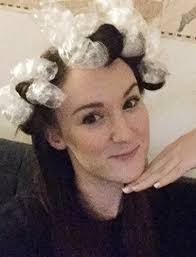 forced to wear hair rollers bubble wrap curls no heat hair curling tutorial allure