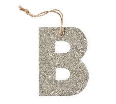 german glitter alphabet ornaments silver pottery barn wish