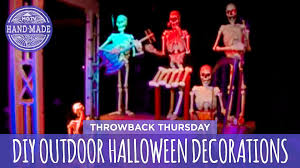 diy outdoor halloween decorations throwback thursday hgtv