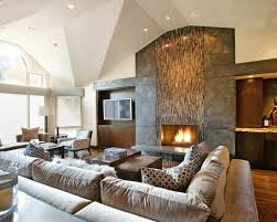 Plain Contemporary Living Room Ideas With Fireplace Creative Of - Comfortable living room designs