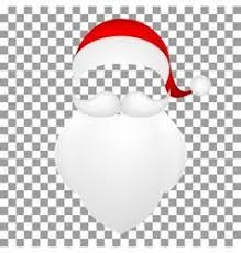 santa beard template santa claus his mustache with a beard vector image