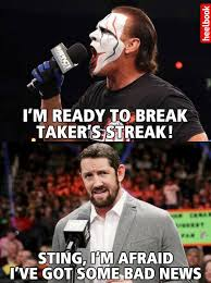 Bad News Barrett Meme - bad news for sting meme wrestling funny pinterest bad news