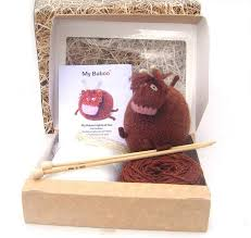 highland cow knitting kit by my baboo notonthehighstreet