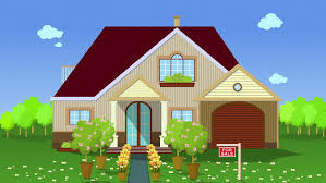 house animated illustration of house for sale flat animation stock footage video