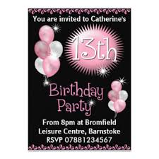 13th birthday invitations u0026 announcements zazzle