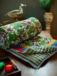 Shopping For Home Decor Online Buy Reversible Foliage Print Jaipuri Razai Double Bed By Kilol