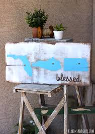 how to make a rustic wood painted state sign