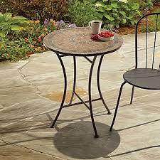pottery barn bistro table modern outdoor bistro table mosaic stone bed bath beyond home