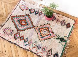 vintage moroccan boucherouite rug the beckett traditional