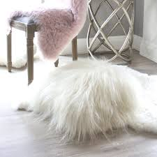 White Fur Cushions The Finest Quality Of Genuine Icelandic Sheepskin Cushions Eluxury