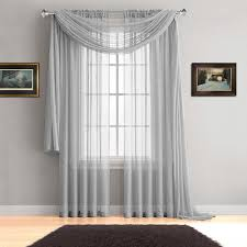 warm home designs silver window scarves sheer silver curtains 7