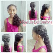 haircuts for girls with long curly hair real life doll creations hairstyles for little girls braids