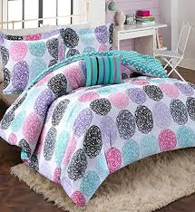 Girls Queen Comforter Amazon Com Girls Teen Kids Modern Bedding Set Aqua Pink Purple