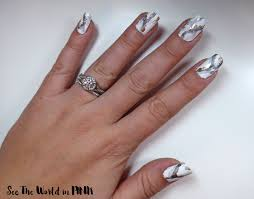 manicure tuesday stone marble nail art see the world in pink
