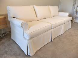 White Slipcover Couch Slipcover Custom Sofa After Natural Canvas Slipcover By Karen U0027s
