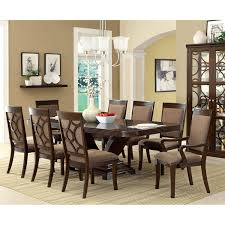 Overstock Dining Room Sets by Furniture Of America Woodburly 9 Piece Dining Set With Leaf