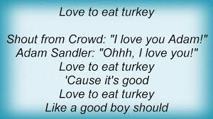adam sandler the thanksgiving song lyrics