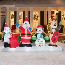 christmas inflatables outdoor outdoor christmas decorations walmart awesome 17 best