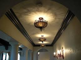 Ceiling Light Crown Molding by Corridor Crown Molding And Light Fixtures