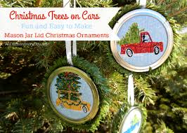 and easy to make jar lid ornaments an