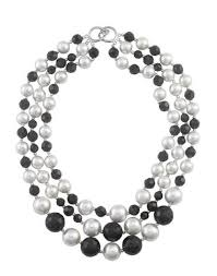 black necklace white images Necklaces dog house pearls jpg