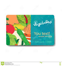 discount gift card vegetable shop sale discount gift card branding design stock
