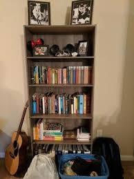 Moving Bookshelves Mainstays 5 Shelf Standard Wood Bookcase Walmart Com