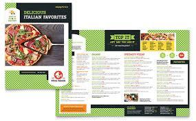 pizza parlor menu template word u0026 publisher