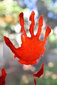 window clings halloween bloody handprint window clings hey let u0027s make stuff