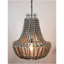 Country French Lighting Fixtures by Aged Wooden Beaded Big Chandelier Hand Made Lighting Fixture