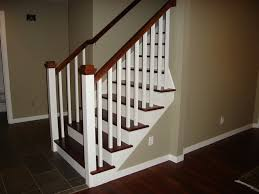 craftsman stair railings stair rail stain color advice home