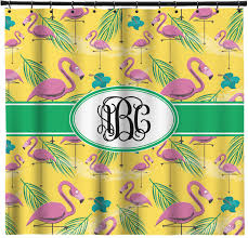 Flamingo Shower Curtains Pink Flamingo Shower Curtain Personalized Potty Training Concepts