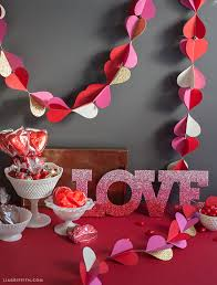 Large Decorations For Valentines Day heart garland for valentine u0027s day decor lia griffith