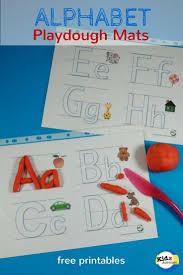 free printable alphabet playdough mats kidz activities