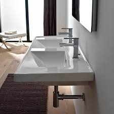 Rectangular Drop In Bathroom Sink by Scarabeo 3006 By Nameek U0027s Ml Rectangular Double White Ceramic Drop