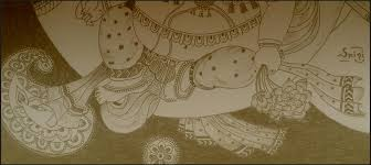 pencil sketch u2013 lord ganesha a ride on his chariot srini u0027s blog