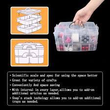 2layer nail polish holder for transparent nail plastic storage box