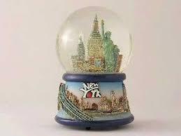 new york city skyline snow globe